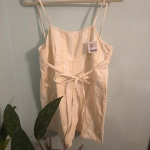 Stripped/yellow Urban Outfitters romper